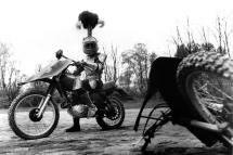 KNIGHTRIDERS, knight on a motorcycle, 1981. (c) United Film Distribution/courtesy Everett Collection
